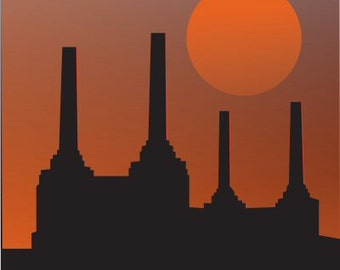 Battersea Poster Vintage Style London Power Station