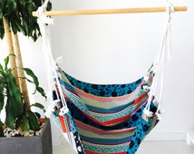 "Hammock - stamped fabric hanging chair, of minimalist design, hanging hammock chair,  (40""x40""x-100x100cm)"