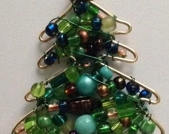 Christmas Tree pendant, ornament, sun catcher