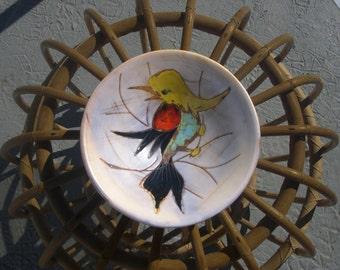 50's ceramic VENCE 1950 1960 plate Decorative Vintage 50s 60 Vallauris pottery middle century Capron