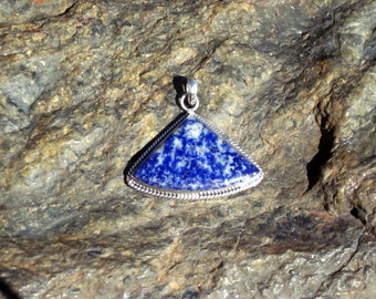 Sodalite & Sterling Silver Pendant - #133
