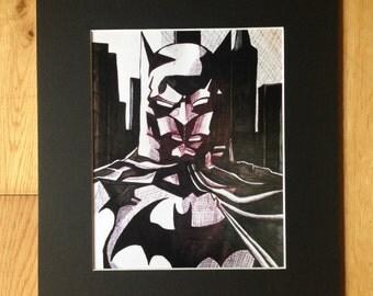 Batman Fan Art Print by Artist Faye Bradley
