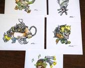 Blizzard Overwatch Cute Spray Illustration Prints