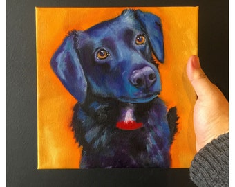 8x8 Custom Pet Portrait - Oil painting of your dog