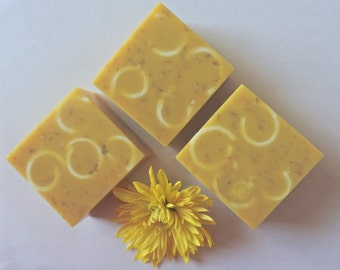 SOAP Plumeria and Calendula/ Handmade Soap/ Coconut Milk Soap/ Glycerin Soap