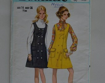Vintage Butterick sewing pattern/1960's or 1970's/Size 14/Women's