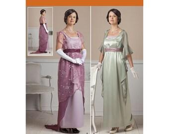 New SIMPLICITY Edwardian Victorian Dinner Gown Dress Pattern 1517