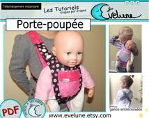 Porte-poupée pour enfant PDF / Patron Français / Porte poupée / porte-bébé pour enfants / accessoire de poupée / Evelune