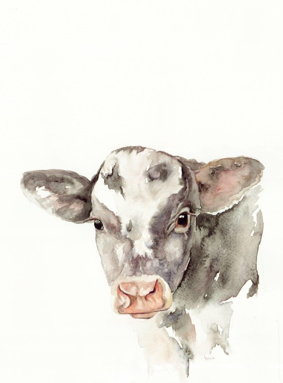 Baby Cow Print