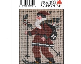 The Prairie Schooler Pattern, Santa 2010, The Prairie Schooler Santa, Cross Stitch Charts, Counted Cross Stitch, Santa Claus,  OOP