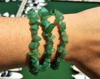 Green Aventurine Bracelet infused with Reiki- Yoga Jewelry/Healing Bracelet