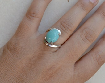 Silver Ring, Turquoise Ring, Size 7 Ring, Boho, Natural Turquoise, Egyptian Turquoise, Sterling Turquoise Ring, Turquoise Jewelry (R73)