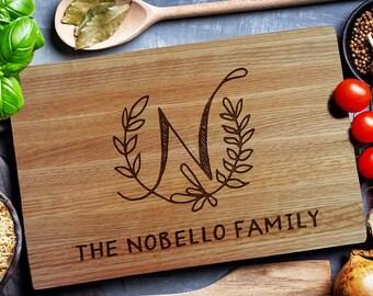 Custom Cutting Board, HAND DRAWN monogram wedding personalized cutting Board,Wedding Monogram,  kitchen sign (191)