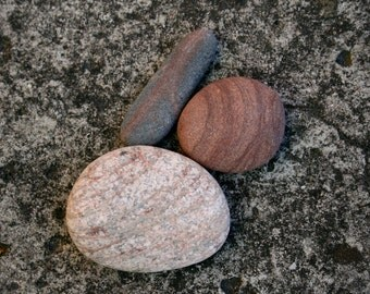 Zen Garden Stones - Beach Stone Cairn Sculpture - Meditation Altar - Relaxation Gift - Baltic Sea