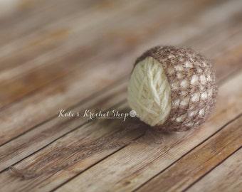 Light Brown Mohair Bonnet Photography Prop
