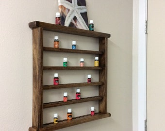 Essential oil holder / hanging wall rack ~ oils storage holds 65 bottles ~ flexible sizing holds 5ml & 15ml ~ GIFT WITH PURCHASE thru 6/11!