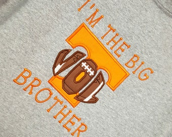 Embroidered Shirt | Vols Shirt | Personalized Shirt | Brother Shirt | Monogrammed Shirt  | Little Brother Shirt | Big Little Brother Shirts