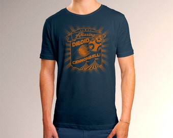 """Star Wars Inspired """"The Amazing Droid Cannonball"""" Men's T-Shirt"""