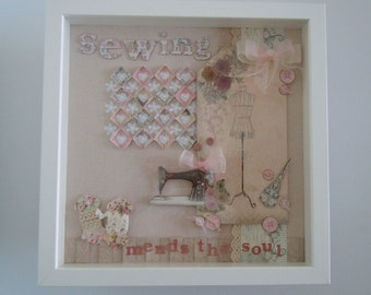 A beautiful handmade sewing picture