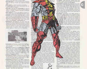 Marvel Comics X-Men Colossus on dictionary page print