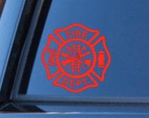 Fire Department | Fireman's Cross | Fire Department Wife | Volunteer Fire Department | Fire Station | Fireman | Firefighter Car Decal |