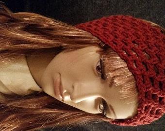Crocheted Red Headband