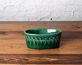 Vintage Forest Green Ceramic Planter USA