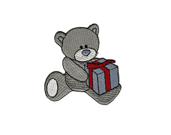 be54 Iron on patches Embroidery Handicraft Teddy Bear