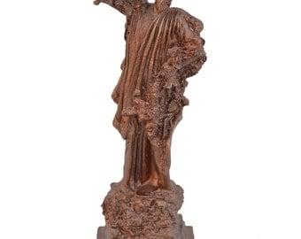 Dionysus Alabaster sculpture statue God of winemaking artifact copper effect