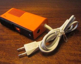 AEG - Space Age Mid Century Modern Plastic Orange Hairdryer - Made in Germany - 1970s