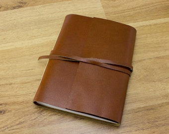 Personalized Leather Journal Sketchbook #045