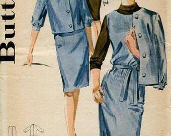 FREE US SHIP Butterick 2851 Retro 1950's Dress Jacket Uncut 32 Sewing Pattern Original Jackie O Suit 50's era
