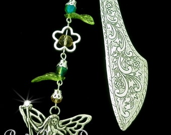 Fairy Themed Metal Bookmark, Whimsical, Forest