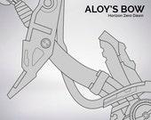 Horizon Zero Dawn Aloy's bow blueprint 1:1 scale