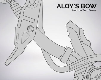 Horizon Zero Dawn Aloy's bow blueprint 1:1 scale