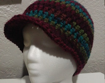 2 Colors Available - Striped Newsboy Cap