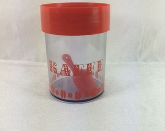 Red Erik Kold Coffee Plastic Storage Container Retro Plastic Storage Box Retro Scandinavian Storage Container