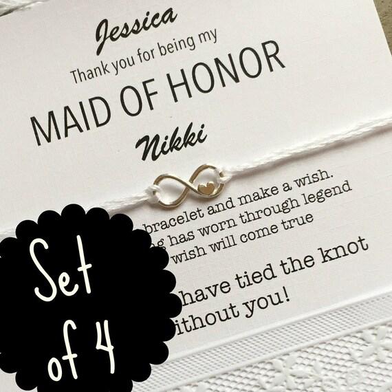 Bridesmaid thank you