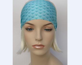 Mermaid Festival Headbands-Yoga Fitness Headband-Workout Headband-Fishscale Print-Gymnastics-Costume Dance Headwraps-NonSlip