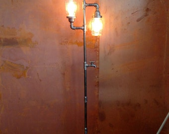 Edison Floor Lamp Restoration Hardware Steampunk Mason jar DOES NOT Include Bulbs