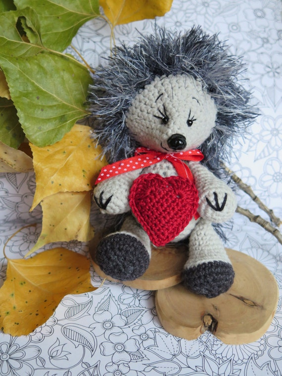 Stuffed Hedgehog Knitting Pattern : Hedgehog toy Crochet toy Knitted toys Hedgehog by PoLesheke