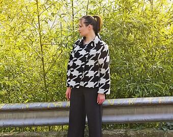 Women's wool jacket/coat sleeves/white Handmade wool/Giacca