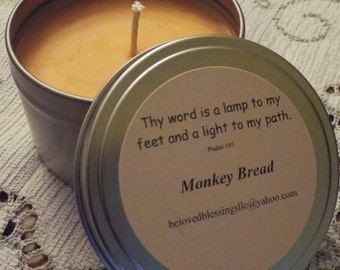 Monkey Bread 8oz Soy Candle Tin