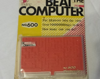 Vintage Game Beat the Computer No. 600 Puzzle a game 1969 Vintage