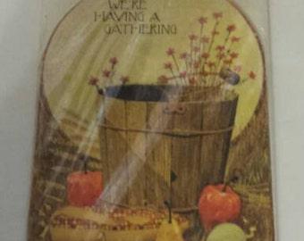 We're Having a Gathering Invitations Thanksgiving Fall Hallmark 1970s