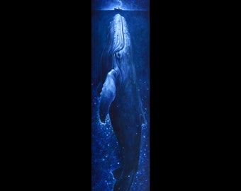 "Whale Song 18""x72"" stretched giclee print on canvas"