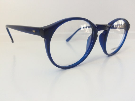 Vintage Blue Eyeglass Frames Mainstreet Oversized Eyeglasses