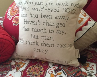 Custom Lyric or Quote Pillow