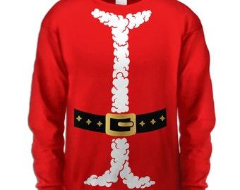 Santa Costume long sleeve kids t-shirt