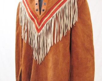 Vintage 1960's Frontiersman Suede Fringed Shirt.
